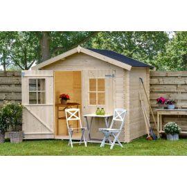 Casetta in legno FINA 238x238 cm - casette da giardino