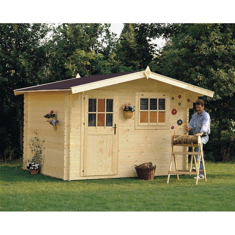 Casetta in legno dalia 318x268 cm casette da giardino for Obi pannelli legno