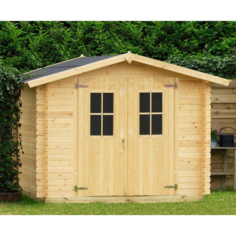 Casetta in legno iris 258x238 cm casette da giardino for Casetta da giardino fai da te