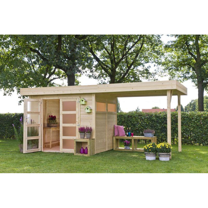 Casetta in legno vermont 303x245 cm casette da giardino - Casette in legno da giardino ...