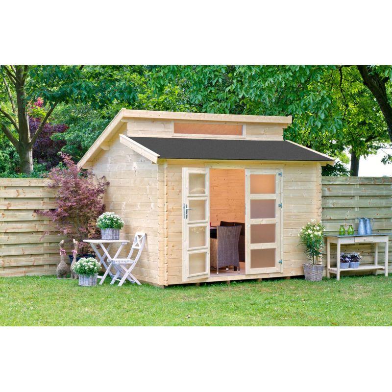 Casetta in legno konigsberg 298x298 cm casette da giardino - Box da giardino ...