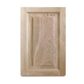 Portes d'armoires en chene avec panneau central surélevé