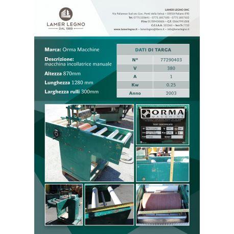 Macchina Incollatrice manuale ORMA MACCHINE