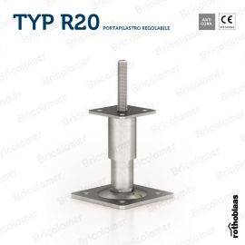 TYP R20 portapilastro regolabile