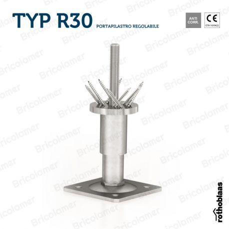 TYP R30 portapilastro regolabile