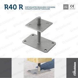 R40 R portapilastro regolabile a base rettangolare