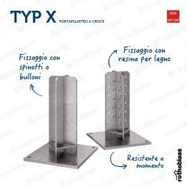 TYP XR10 PORTAPILASTRO A CROCE