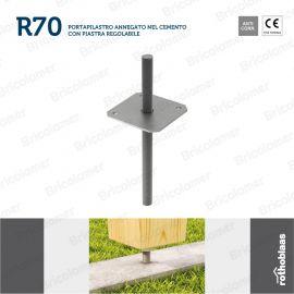 R70 portapilastro regolabile per cemento