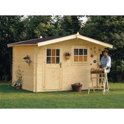 Casetta in legno DALIA 318x268 cm - casette da giardino