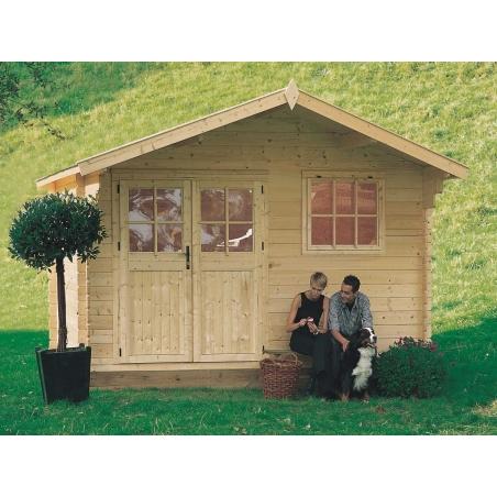 Casetta in legno ROSITA 398x318 cm - casette da giardino
