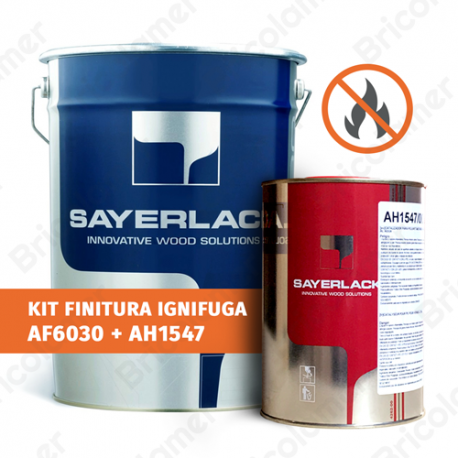 Fondo-Finitura all'acqua trasparente IGNIFUGO per pavimenti AF6030/00 + AH1547/00