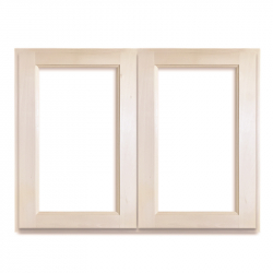 Telaio con 2 ante a vetrina in tiglio