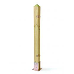 Montante per staccionata in Pino impregnato 9x9cm