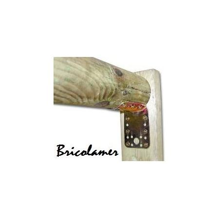 Piastra giunzione piegata per legname con piano