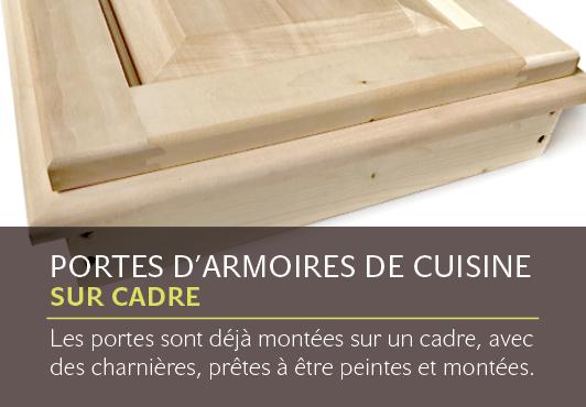 Portes d'armoires de cuisine sur cadre