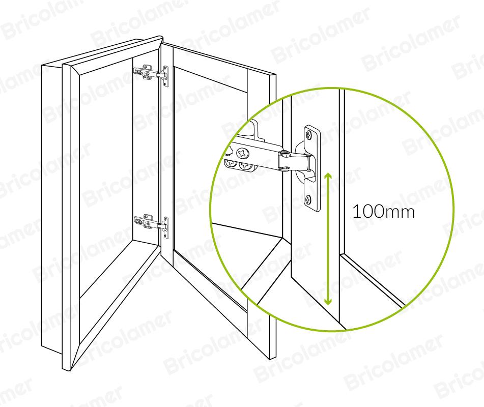 portes sur cadre dessin technique2