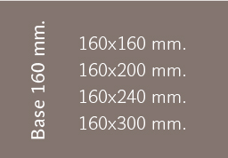 Base 160 mm